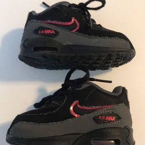 Nike Air max black toddler sneakers size 4C